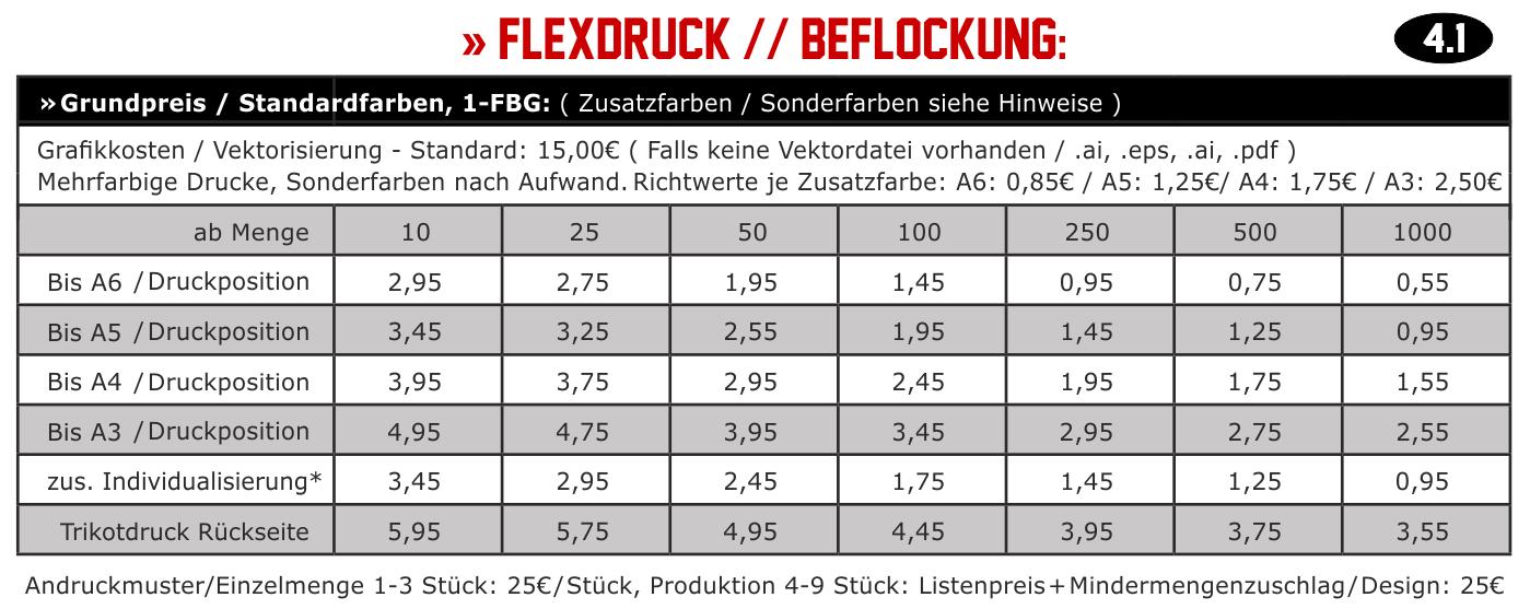 Flexdruck, Beflockung, Plotterflex, Plottdruck, Flex, Flockdruck
